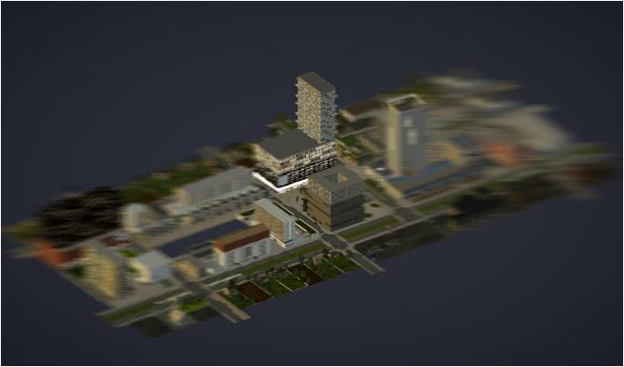 Im Projekt Urban Menues automatisch generiertes Bild der Gesamtszene.